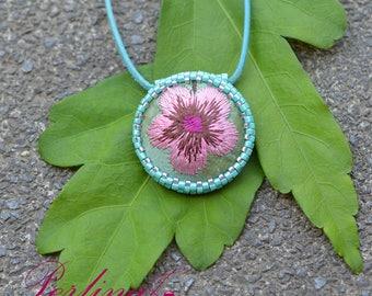 Necklace Silk Flower