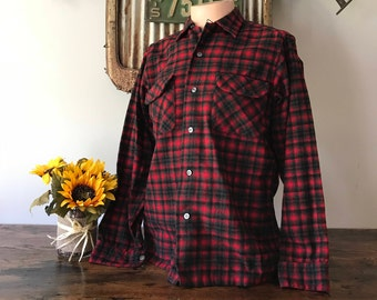 Original Pendleton Virgin Wool Flannel Shirt - Size Medium
