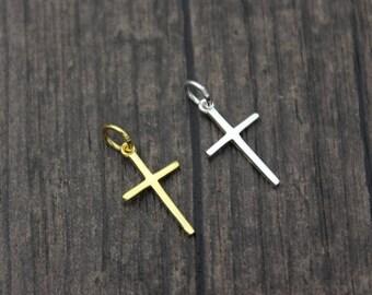 Sterling Silver Cross Charm Pendant,Cross necklace pendant,Cross Jewelry