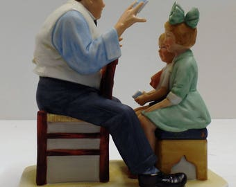 "Vintage Norman Rockwell ""Card Tricks"" Figurine In Original Box"