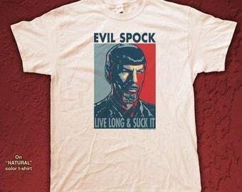 "EVIL SPOCK ""HOPE"" style T-Shirts - pre shrunk 100% cotton, short sleeve t-shirt"