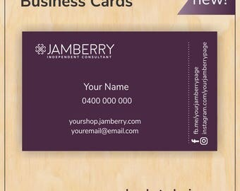 Fig Business Cards for Jamberry Consultants - Digital PDF file - new branding, new logo