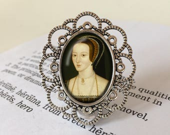 Anne Boleyn Brooch -Wives of Henry VIII Jewelry, Feminist Pin, History Brooch, The Tudors Pin, Wolf Hall Gift, Vintage Anne Boleyn Jewellery