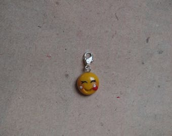 Charm smiley in love, heart, pendant
