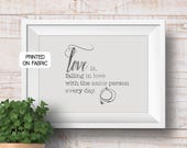 Love quote art print, han...