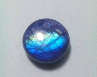 Purple Rainbow Moonstone 17 MM Cabochon