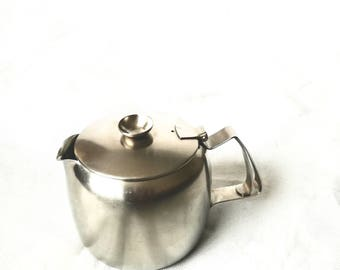 Vintage kitchen Retro 60's Stainless Steel OLD HALL 2 pt Teapot