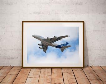 """Paris Air Show Photography, Airbus A380, Salon du Bourget, Fine Art Photography, 20 cm x 30cm, 8"""" x 12"""""""