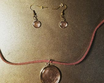 Purple/Green Jewelry Set