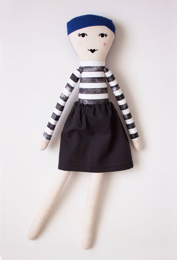 Fashion Icon Coco Chanel Cloth Doll: handmade with eco-friendly materials