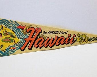 Hawaii - Vintage Felt Pennant