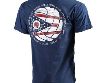 State of Mine: Ohio Volleyball Short Sleeve T-shirt, Volleyball Shirts, Volleyball Gifts, OH Volleyball - Free Shipping!