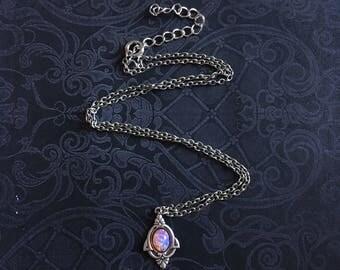 Pink Opal Necklace, Opal Necklace, Opal Pendant Necklace, Pink Opal Jewelry, Pink Opal Pendant, Dainty Opal Necklace
