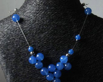 """Necklace """"antica Vienna collection"""" blue agate."""