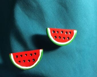Cute WATERMELON Half SLICE Fruit Clog Shoe Charms