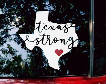 Hurricane Harvey- Texas Strong Decal 100% Profit Donated