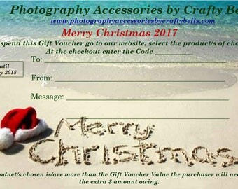 Gift Certificate, Gift Cards, Christmas Gift Vouchers, Photography Gift Vouchers, Camera Accessories Gift Vouchers Christmas Gift, Gift Card