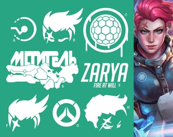 Zarya Overwatch Tank Hero | Vinyl Decal Sticker, Overwatch, Blizzard, Gaming, 17 Colors, Oracle Long Lasting | SneakyStickers