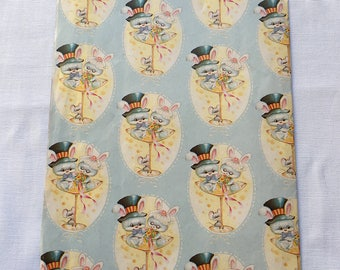 Vintage | Mouse | Bride & Groom | Wedding | Wrapping Paper #22