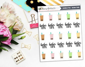 Bubble Tea/Boba Time Planner Stickers