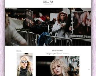 SALE! Allura | Responsive Minimalist Premade Blogger Template
