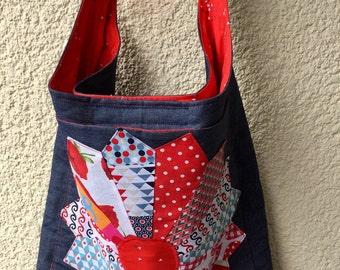 Shoulder bag shoulder bag shopper patchwork bag
