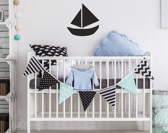 Vinyl sticker wall sticker childrens • boat •