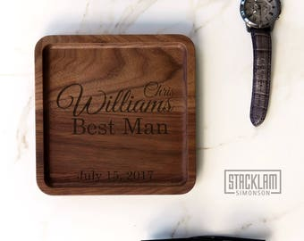 Personalized Best man Valet Tray, Best Man Gift idea, Groomsman gift idea, Wedding Gift, wedding favor, will you be my Best Man Gift box