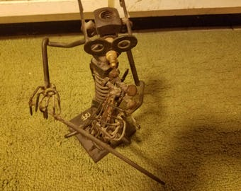 Sculpture made from tools, nuts and bolts