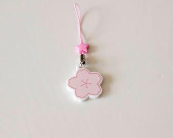 Acrylic key or phone charm - Sakura