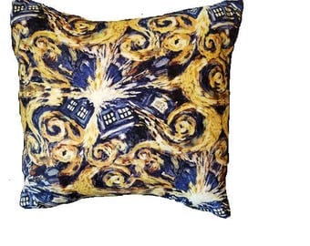 Dr. Who 14 x 14 Throw Pillow