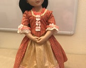 18th century dress for AGAT doll