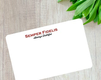Marine Corps Gift- Semper Fidelis Note Cards- Marine Corps Stationary- Military Stationary- Military Note Cards