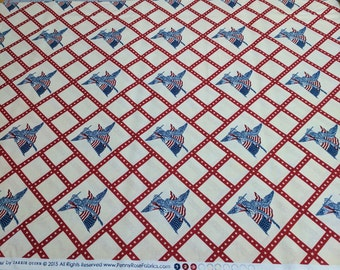 Americana-Red Cotton Fabric Designed by Carrie Quinn for Penny Rose