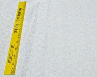 Jingle-White Poinsettias-Cotton Fabric from Kate Spain for Moda Fabrics