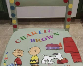 Charlie Brown Kids Chair/Personalized