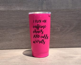 Powder Coated HOGG 20 oz. Tumbler - Customized Stainless Steel Tumbler - Laser Engraved Tumbler - Custom Gifts
