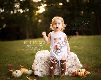 Boho Baby Clothes, Fox Dress, Baby Girl Clothes