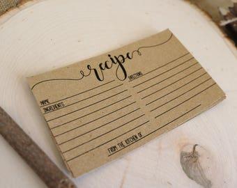 Recipe Cards . Instant Download . Printable . Rustic Bridal Shower . Rustic, Barn Wedding Bridal Shower.
