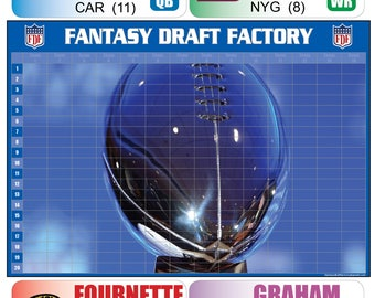 Fantasy Football Draft Kit 2017 - Full Color Board + Screen Labels + FREE SHIPPING