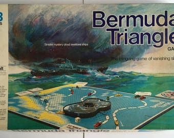 Bermuda Triangle board game, vintage MB games, 1975, complete, excellent condition.