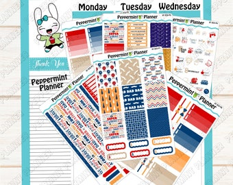 Father's Day Weekly Kit --- Planner Stickers --- It will fit in your Erin Condren Vertical Planner --- ECV 07