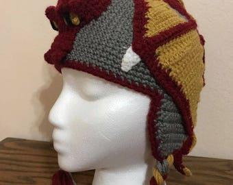 Crochet Dragon Beanie