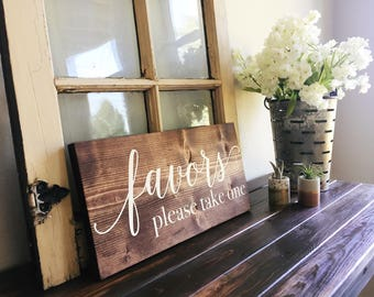 favors wedding sign | favors please take one wood sign | favors please take one sign | party favors sign | wedding sign