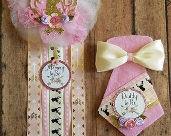 Deer Baby Shower Corsage/ Mommy To Be/ Daddy To Be/ Deer Theme/ Boho Baby Shower Pin/ Deer Pin/ Deer Baby Shower/ Deer Corsage/ Boho Theme