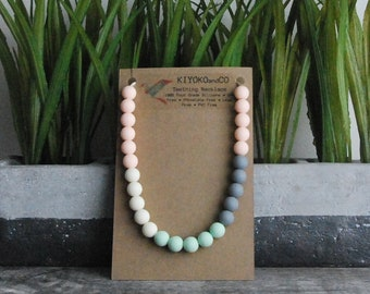 Multi-coloured Silicone Teething Necklace, Chewlery
