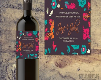 WEDDING WINE LABELS, Bridal Shower Wine Label, Wedding Wine Label, Wedding Wine, Custom Wedding Wine Label, Custom Shower Labels