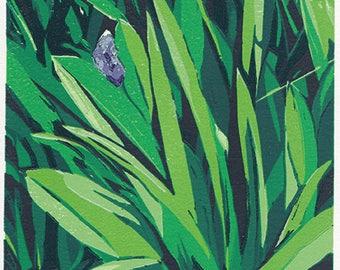 Leaves Linocut Print