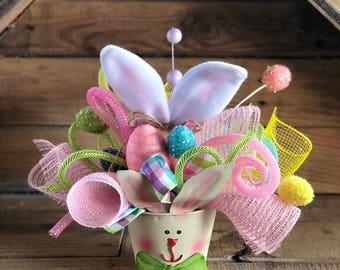 Easter centerpiece,Easter centerpiece for table,Easter centerpiece deco mesh