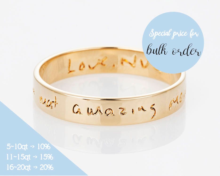 Actual Handwriting Ring